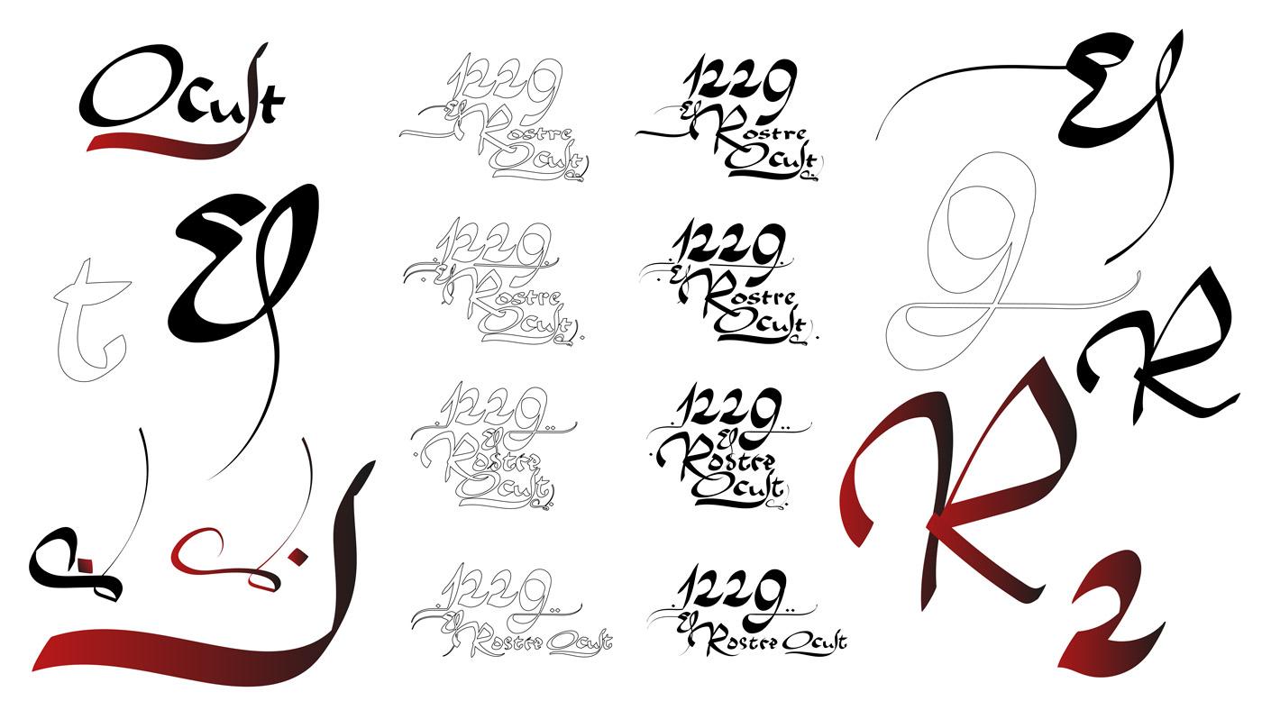 El rostre ocult caligrafía